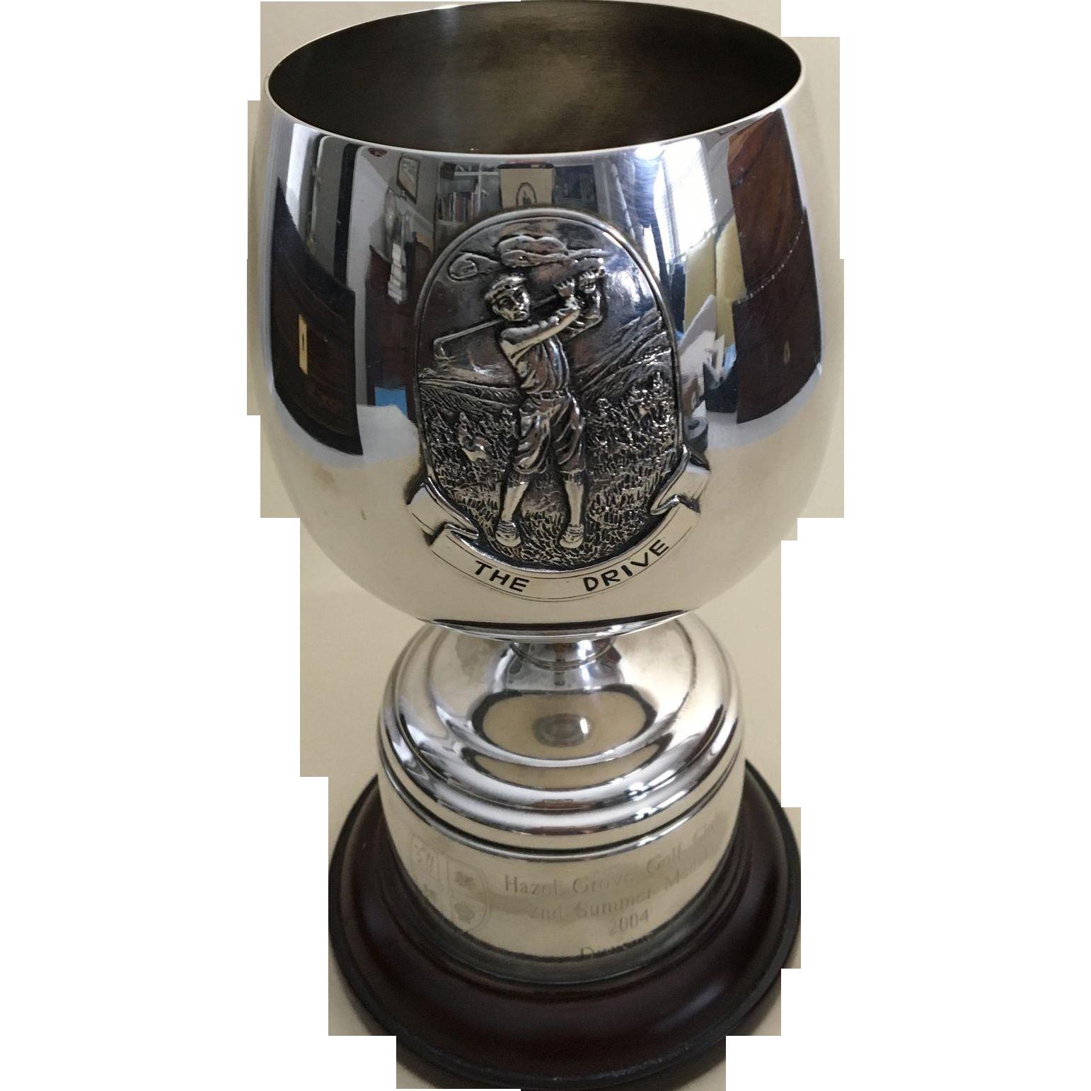 English Silver Plate Golf Trophy