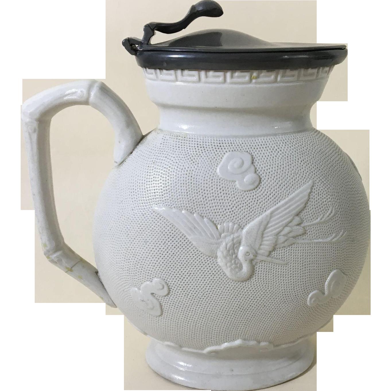 1850 English Relief Molded Jug