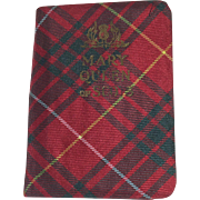 Tartan Plaid Covered Mary Queen of Scots Miniature Book
