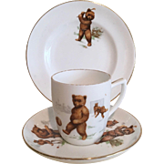 Three Piece Children's Tea Set: 'Roosevelt Bears'