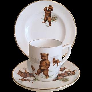 Three Piece Children's Tea Set: 'Roosevelt Bears'