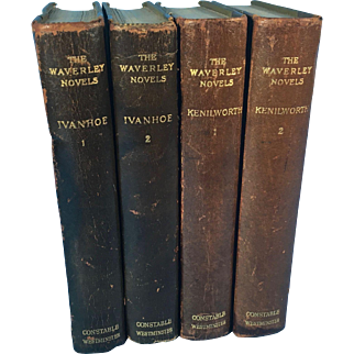 Four Volumes of the Waverley Novels: Ivanhoe and Kenilworth by Walter Scott