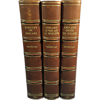 Three Volumes of British History by George Macaulay Trevelyan, Longmans, Green, London