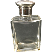 1921 English Sterling Silver Topped Perfume Bottle