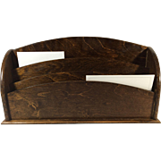 Oak Stationary and Letter Holder, c. 1910