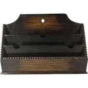 English Mahogany Stationary and Letter Holder