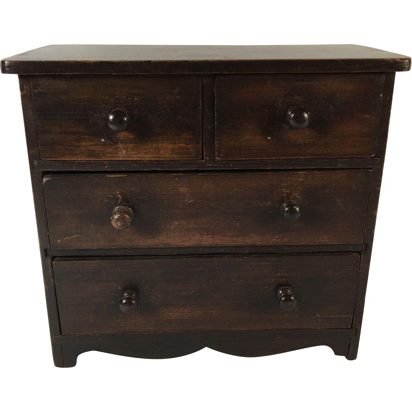 Miniature Mahogany Chest of Drawers, England, c. 1895