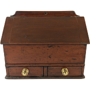 English Miniature Mahogany Secretary with Drawers