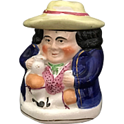 English Staffordshire  Figurine 'Toby Design Tea Caddy', 1880