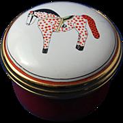 Poke-It-Dot  English Enamel Ware Trinket Box