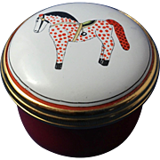 Poke-It-Dot  English Enamel Ware Trinket Box