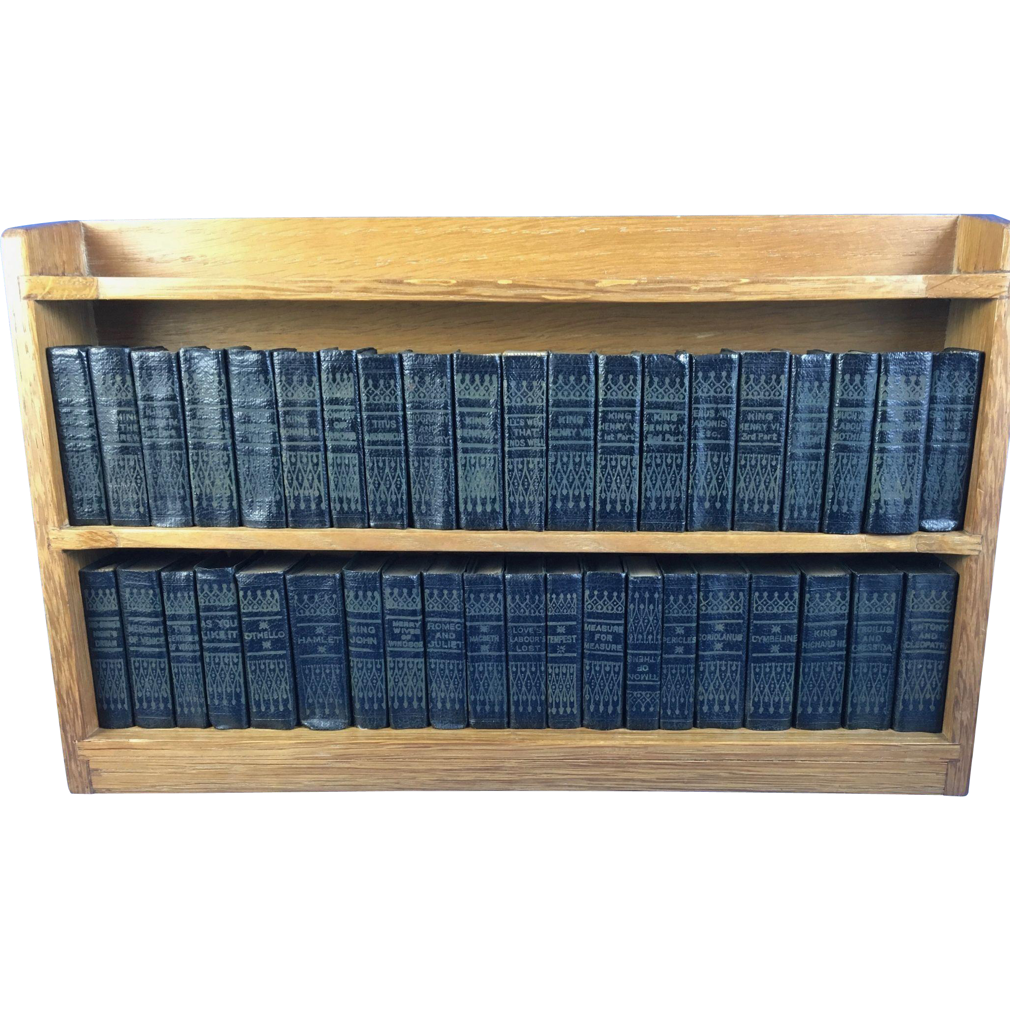 Set of 40 Volume Miniature Shakespeare Set with Bookcase