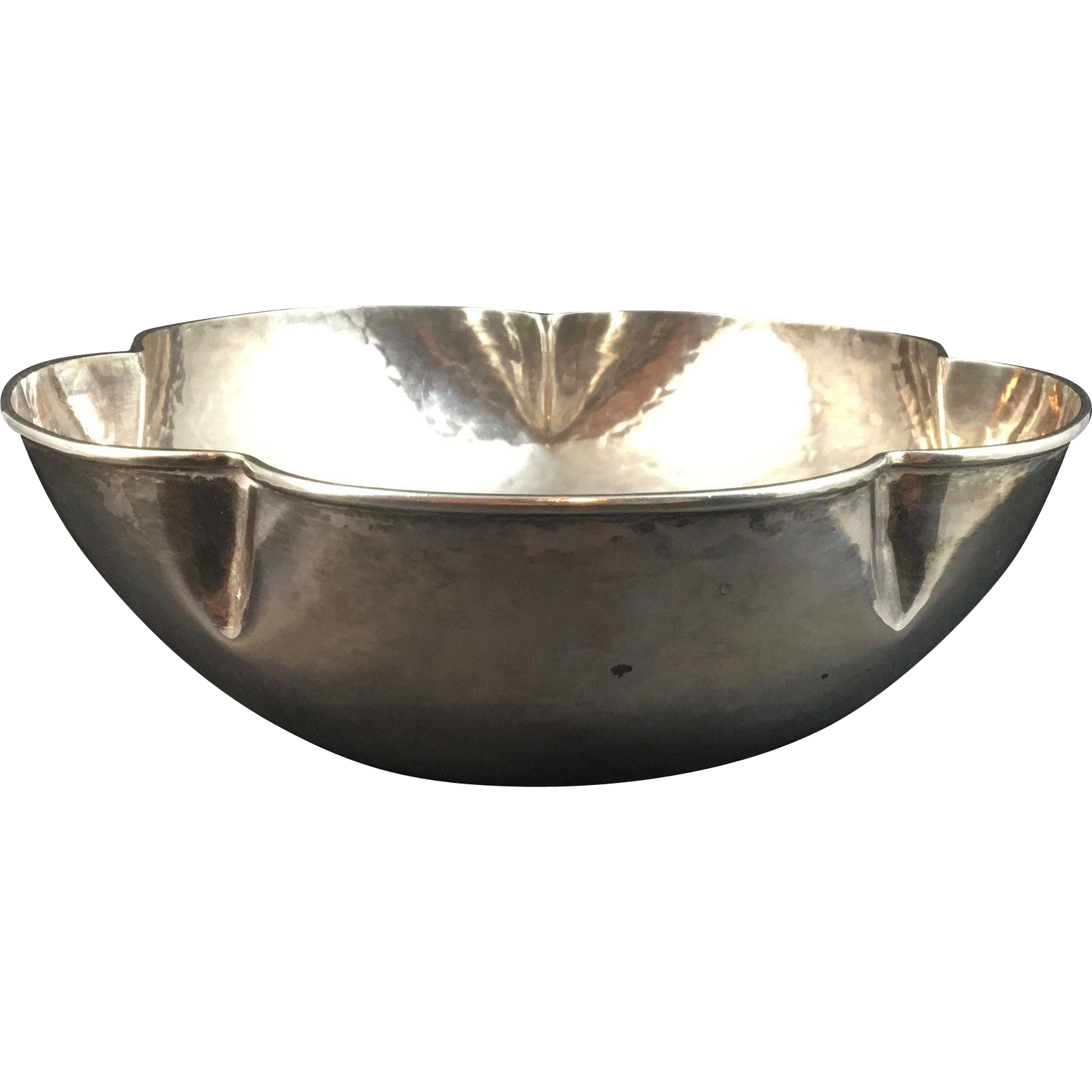 Hand Hammered Sterling Silver Bowl By F Novick From