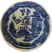 Blue Willow Butter Pat/Child's Tea Plate