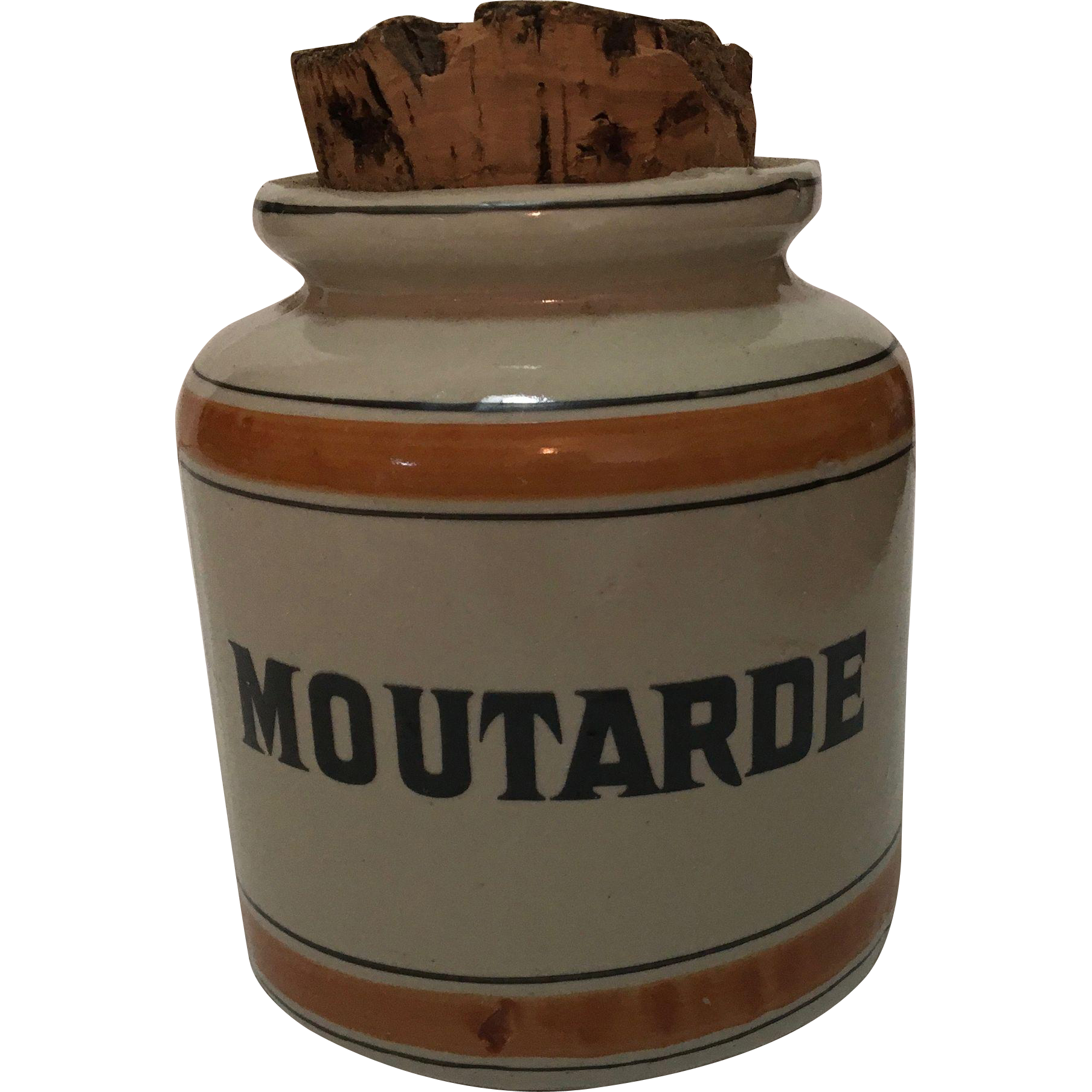 Vintage  French Mustard (Moutarde) Jar, Hallmarked