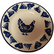 English Blue and White Small Plate