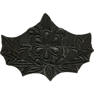 Wooden Floral Textile Print Block from India