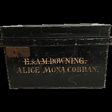 Large Vintage English Deed Box, E. & A. M. Downing: Alice Mona Cobban