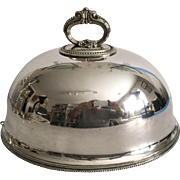 C.1900 English Silver Plated Food Dome