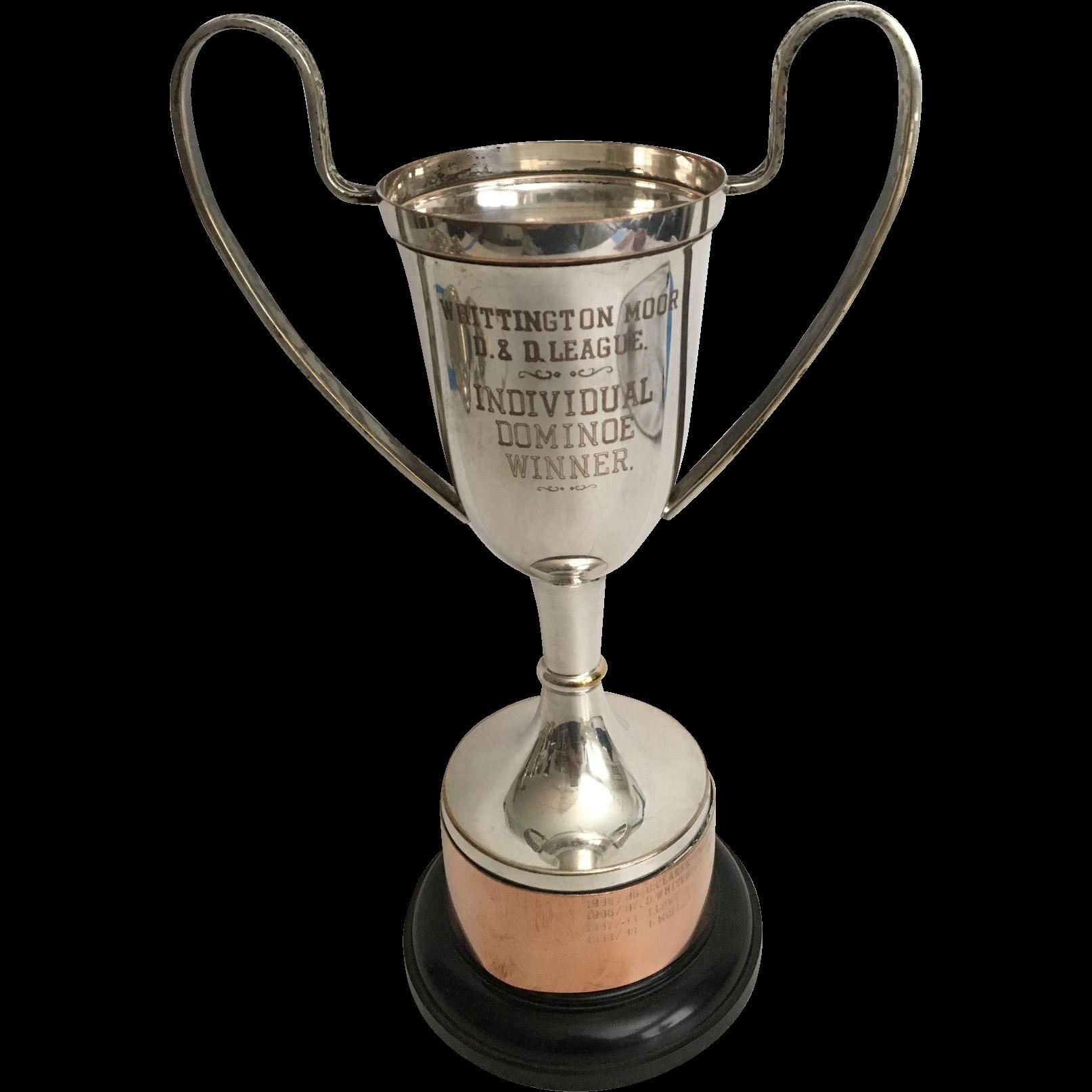 English Dominoes Winner Trophy