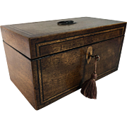 Early 19th Century English Walnut Double Tea Caddy