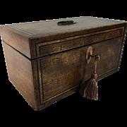 Early 19th Century English Walnut Double Tea Caddy