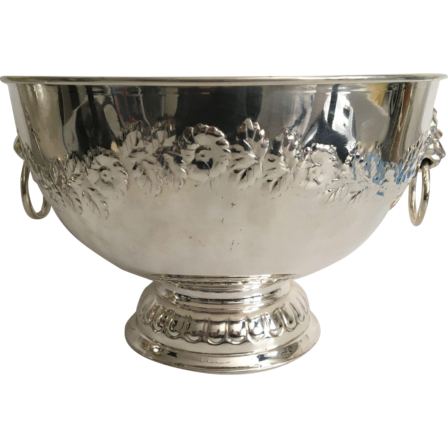 C.1950 English Silver Plated Punch Bowl