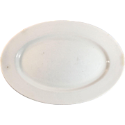 English White Ironstone Platter, Maddock & Co.