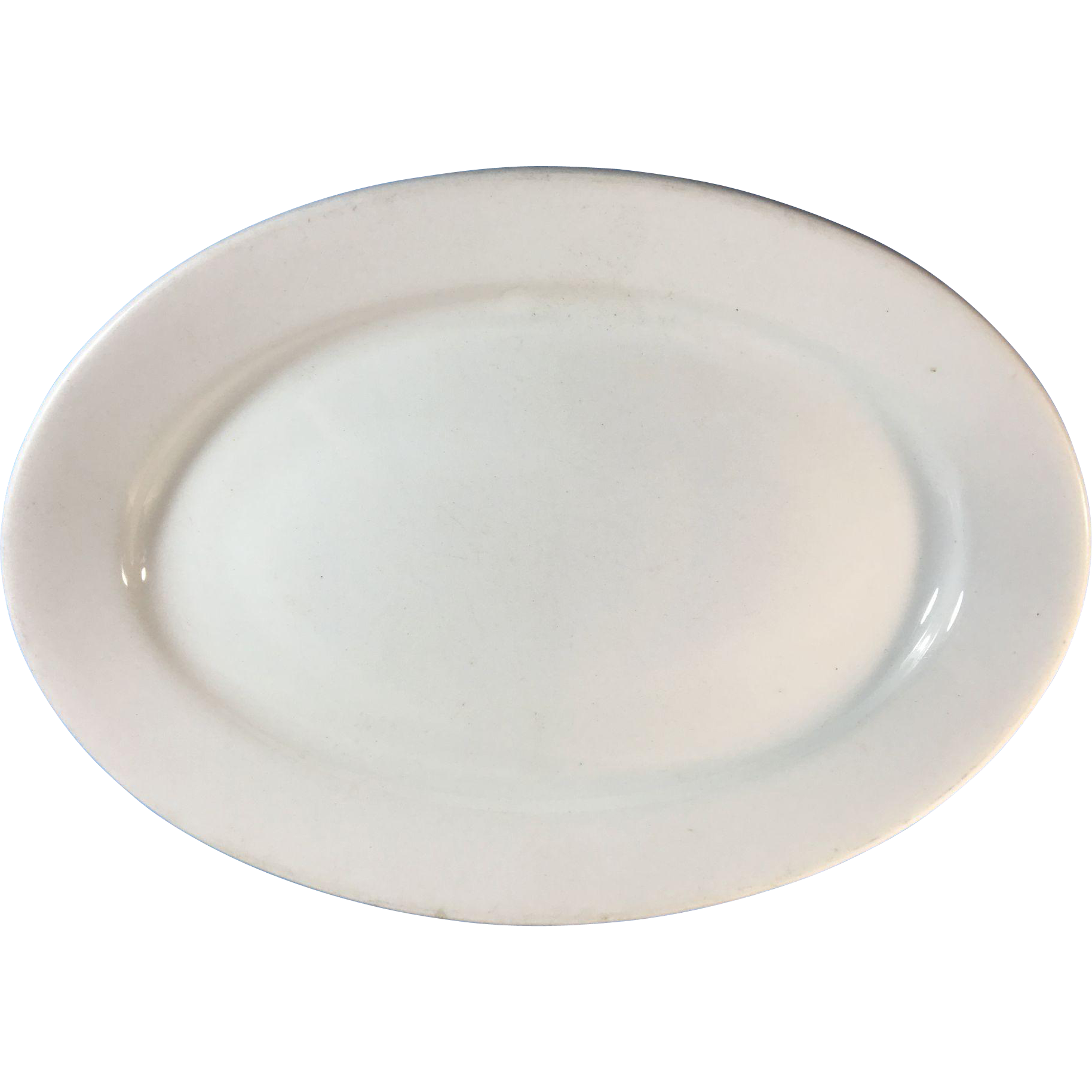 C.1897 White Ironstone Platter, Alfred Meaking