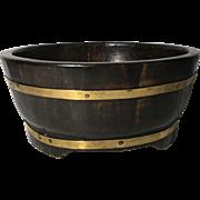 English Vintage Oak Bowl