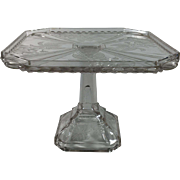 English Press Glass Pedestals Cake Stand, C.1891