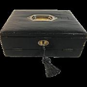 English Leather Writing Box/Slope
