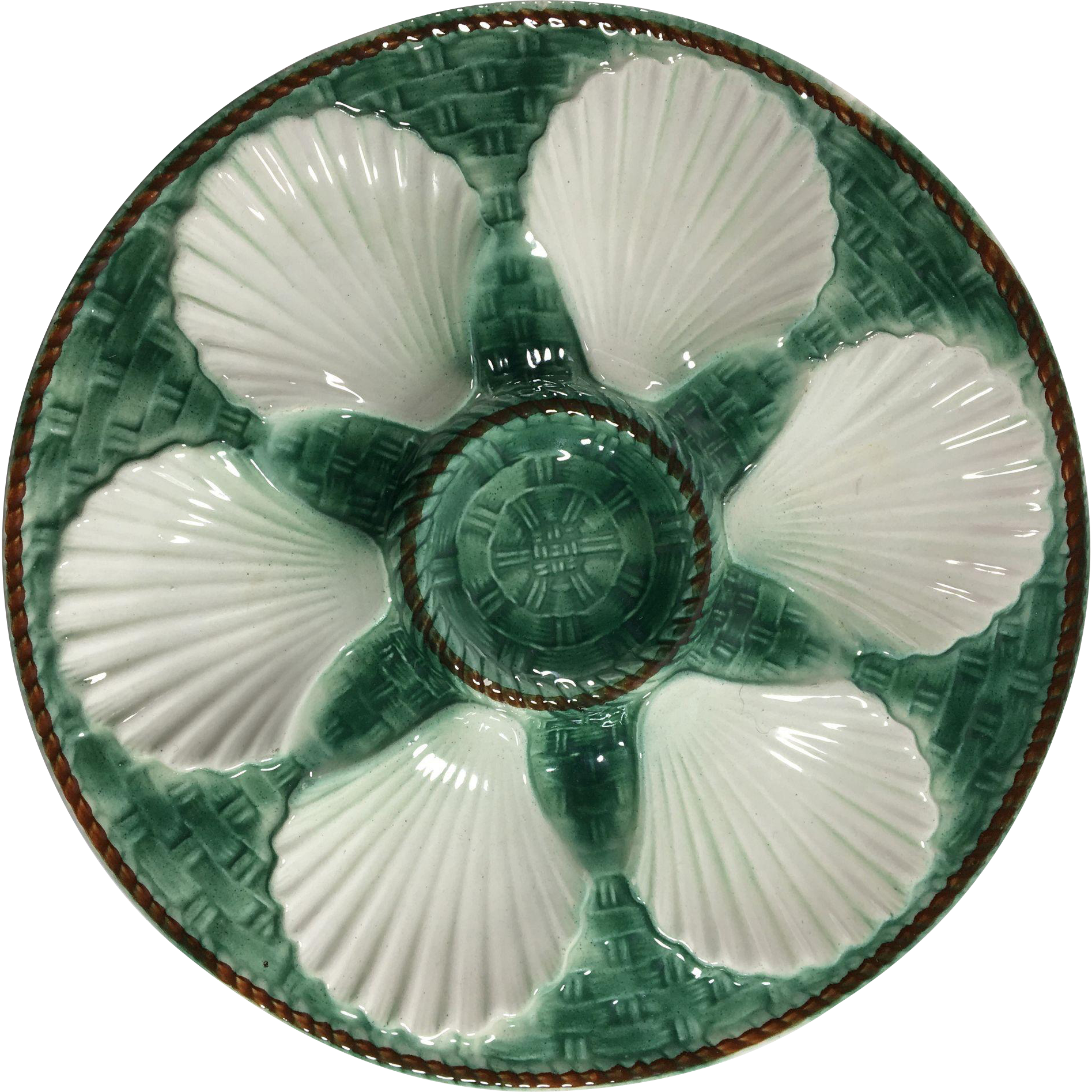 Vintage French Oyster Plate. C.1950