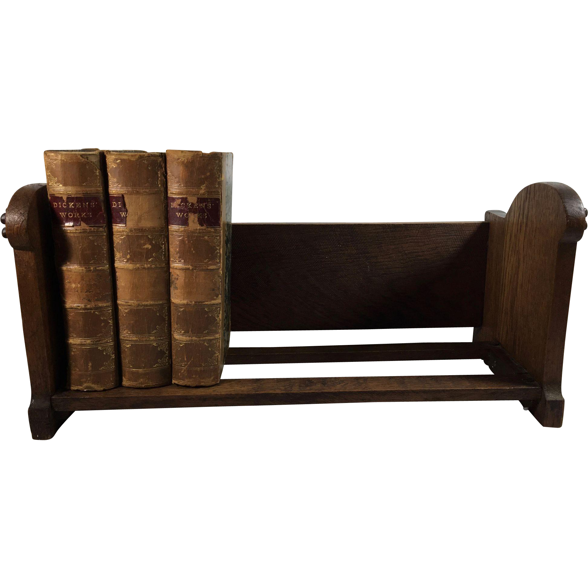 C.1900 English Carved Oak Desk Book Stand