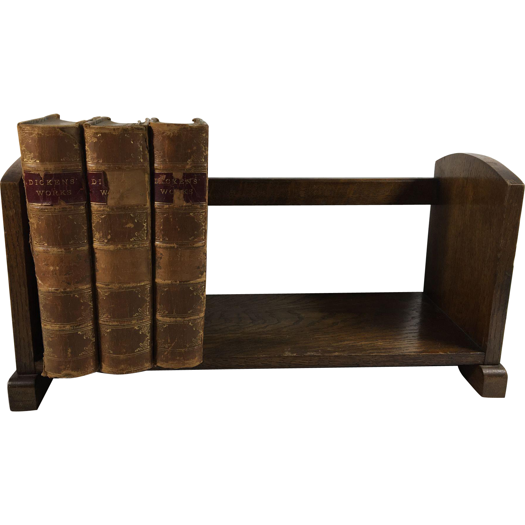 English  Table Top Oak Book Stand. C.1920