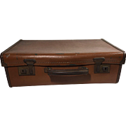 English Vintage Leather Suitcase