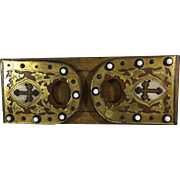 Victorian Brass and Wood Expanding Bookends