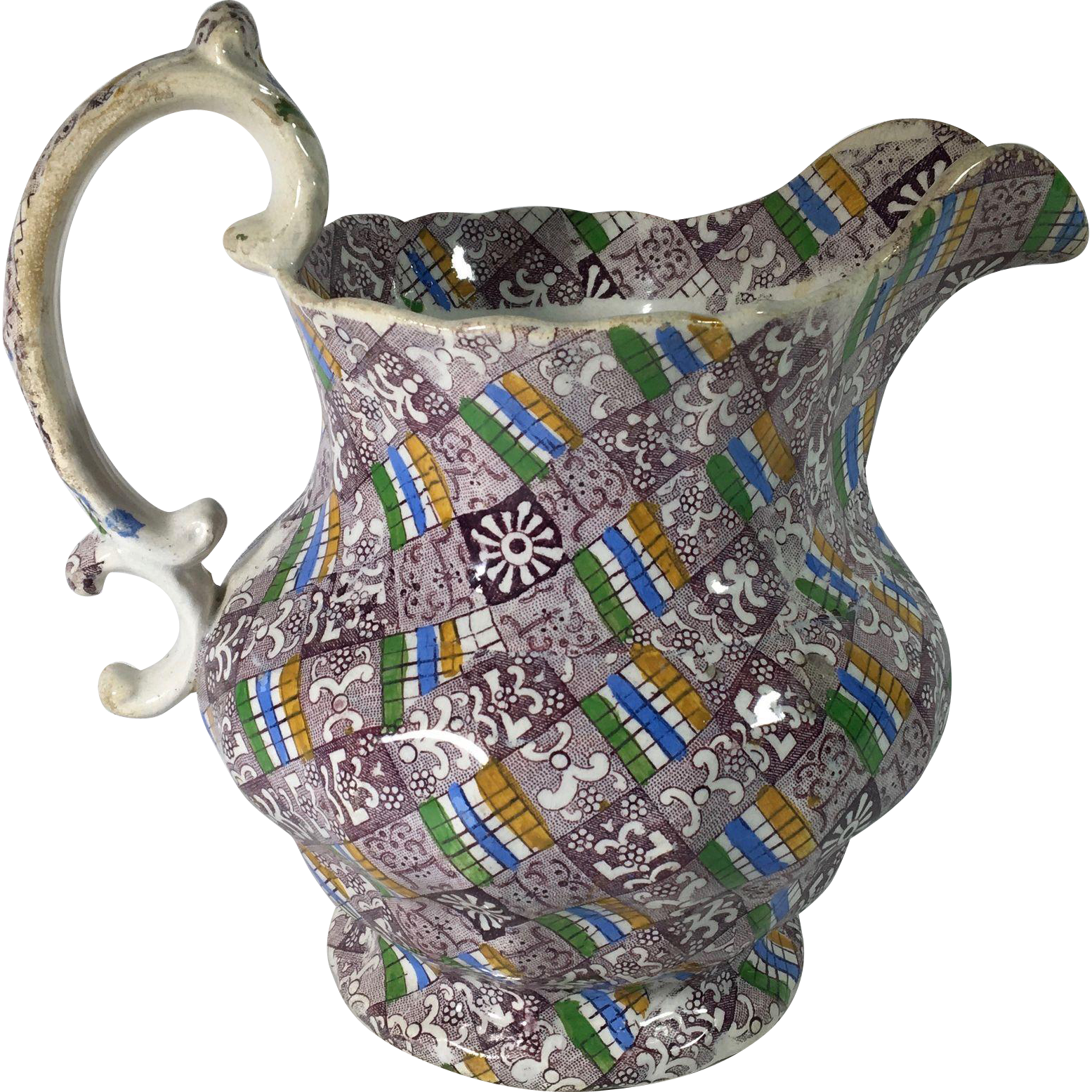 1860 English Sheet Transfer Ware Jug