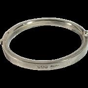 English 1900 Sterling Silver Baby Christening Bracelet