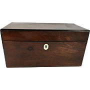 English Tulipwood Double C Tea Caddy