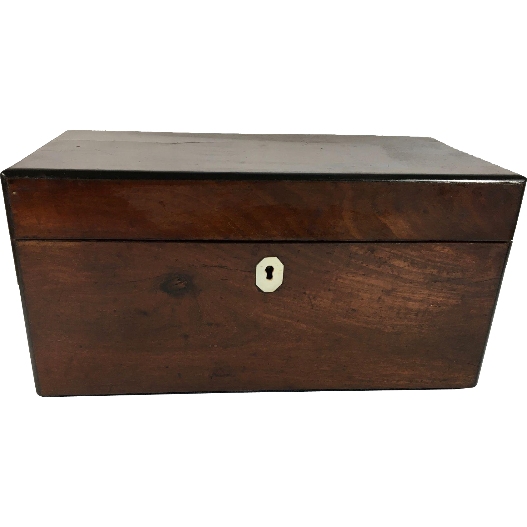 English Tulipwood Double Canister Tea Caddy