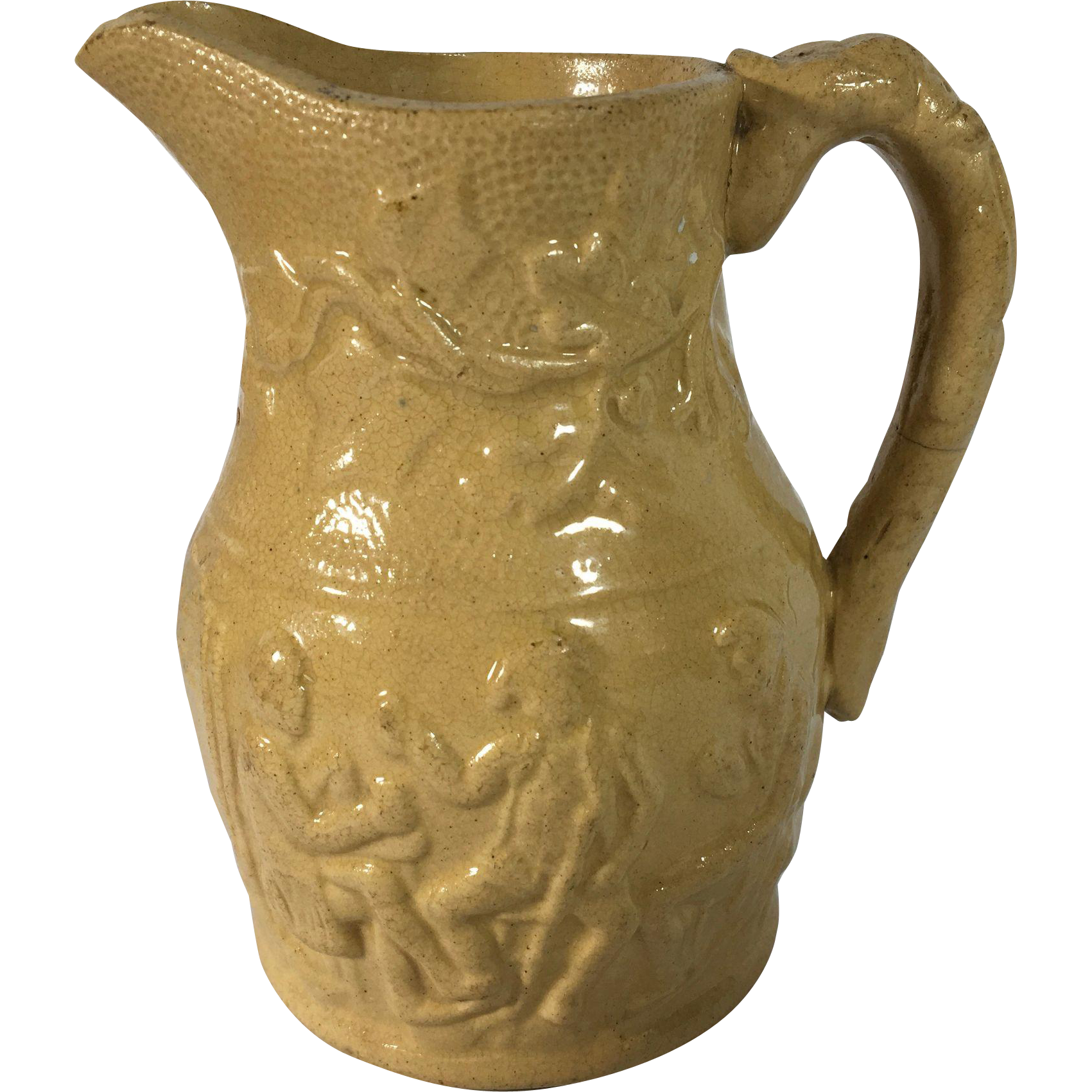 C.1830-1840 English Yellow Ware Jug