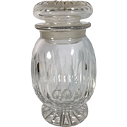 English Cut Glass Jar