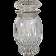 English Cut Glass Jar