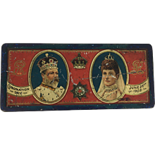 1902 Coronation Tin Edward VII & Queen Alexandra
