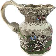 English Hexagon Jug. C.1835, Pattern name Bacchanalian Cherubs' by Patterson