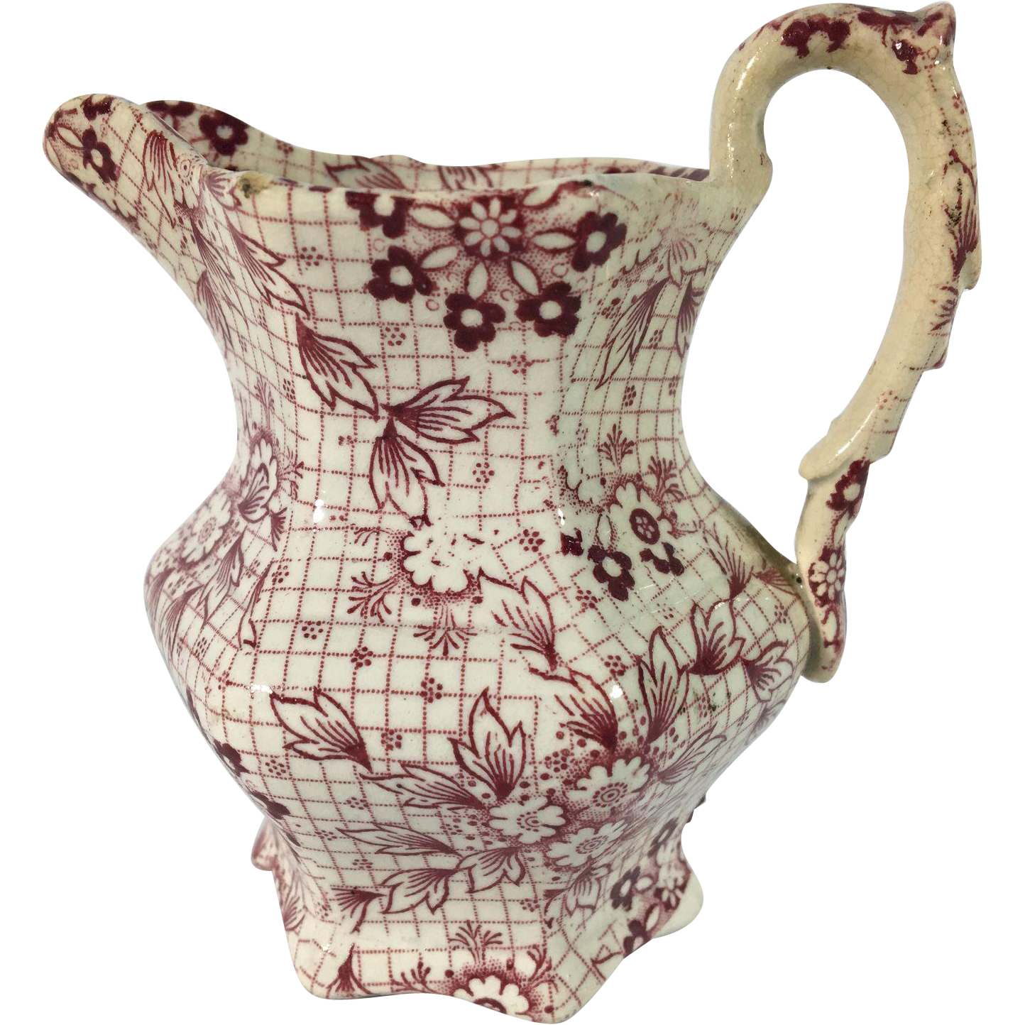 1860 English Red Transfer Ware