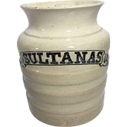 English Sultanas Ironstone Container.   C.1900