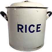 Enamelware Graniteware Rice Container
