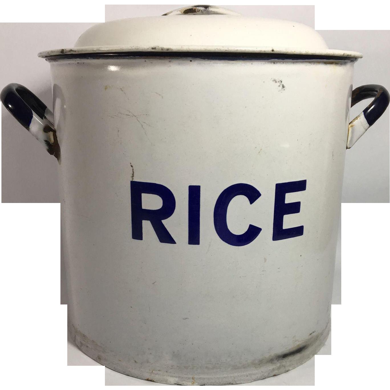 Enamelware Graniteware Rice Container